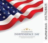 celebration flag of america... | Shutterstock .eps vector #1417028825