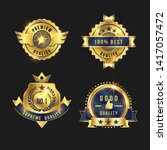 luxury gold badges and labels... | Shutterstock .eps vector #1417057472