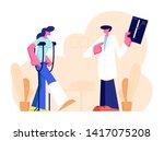 handsome male medical doctor... | Shutterstock .eps vector #1417075208