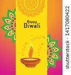 diwali festival greeting card... | Shutterstock .eps vector #1417080422