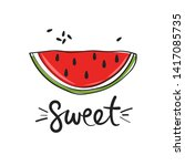 fresh fruit and english text ... | Shutterstock .eps vector #1417085735