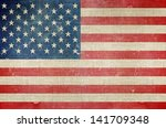 usa flag on canvas background.... | Shutterstock . vector #141709348