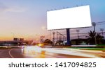 billboard blank for outdoor... | Shutterstock . vector #1417094825