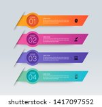 infographics design vector and... | Shutterstock .eps vector #1417097552