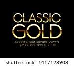 vector classic gold alphabet... | Shutterstock .eps vector #1417128908