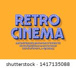 vector bright poster retro... | Shutterstock .eps vector #1417135088