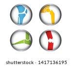 knee joint tibia hip femur foot ... | Shutterstock .eps vector #1417136195