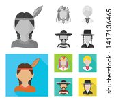 vector illustration of imitator ... | Shutterstock .eps vector #1417136465