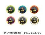 business warranty tag   vector | Shutterstock .eps vector #1417163792