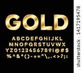 gold font.you can be used gold... | Shutterstock .eps vector #1417195478