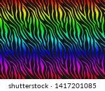 multi color zebra fur skin...   Shutterstock . vector #1417201085