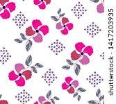 flowers pattern elegant floral...   Shutterstock .eps vector #1417203935