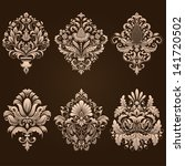 vector set of damask ornamental ... | Shutterstock .eps vector #141720502