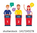 people playing in game quiz... | Shutterstock .eps vector #1417245278