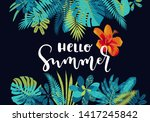 hello summer. hand drawn... | Shutterstock .eps vector #1417245842