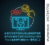 choose procedure neon light... | Shutterstock .eps vector #1417247732