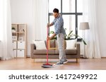 cleaning  housework and... | Shutterstock . vector #1417249922