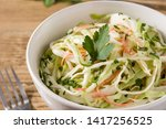 coleslaw salad in white bowl on ...   Shutterstock . vector #1417256525