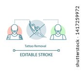 tattoo removal concept icon.... | Shutterstock .eps vector #1417259972