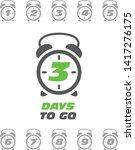 three days to go sticker or... | Shutterstock .eps vector #1417276175