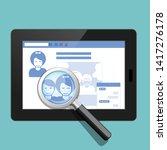 your social public profile is... | Shutterstock .eps vector #1417276178