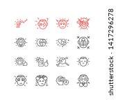 illustration of 16 emotions... | Shutterstock . vector #1417296278