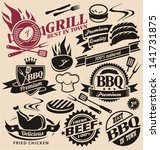 collection of barbecue vector... | Shutterstock .eps vector #141731875