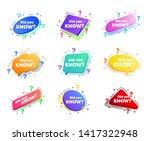 interesting fact label. banner... | Shutterstock .eps vector #1417322948
