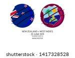 new zealand vs west indies  ... | Shutterstock .eps vector #1417328528
