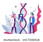 genetic code examination dna... | Shutterstock .eps vector #1417330418