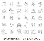 summer vacation icon bundle... | Shutterstock .eps vector #1417346972