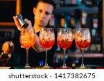 Orange Cocktails On Night Part...