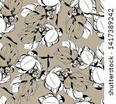 spring magnolia flowers ...   Shutterstock .eps vector #1417389242