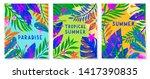 set of summer vector...   Shutterstock .eps vector #1417390835
