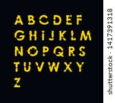spiny yellow font on black... | Shutterstock .eps vector #1417391318