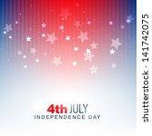 vector american independence... | Shutterstock .eps vector #141742075