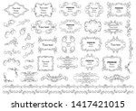 calligraphic design elements .... | Shutterstock .eps vector #1417421015