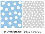 cute abstract geometric... | Shutterstock .eps vector #1417424792