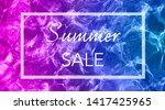 gradient swimming pool ripple... | Shutterstock . vector #1417425965