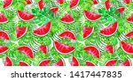 seamless pattern with...   Shutterstock . vector #1417447835