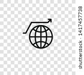 worldwide icon from business... | Shutterstock .eps vector #1417457738