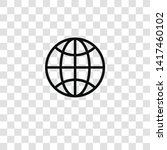 worldwide icon from business... | Shutterstock .eps vector #1417460102