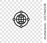 worldwide icon from business... | Shutterstock .eps vector #1417460138