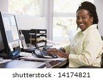 woman in home office using... | Shutterstock . vector #14174821