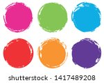 colorful grunge circles. grunge ... | Shutterstock .eps vector #1417489208