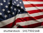 american flag waving in the... | Shutterstock . vector #1417502168