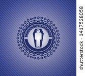 dead man in his coffin icon...   Shutterstock .eps vector #1417528058
