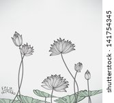 Floral Water Lily Elements For...