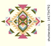 invitation card with navajo... | Shutterstock .eps vector #141754792