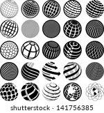 illustration of black and white ... | Shutterstock .eps vector #141756385